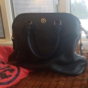 Tory Burch black satchel with crossbody strap